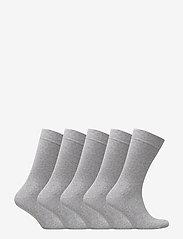 Björn Borg - 5p SOCK NOOS ESSENTIAL - regular socks - grey melange - 2