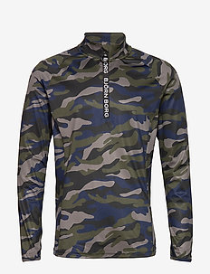 HALF ZIP POLO ARIC ARIC - MULTI CAMO FOREST NIGHT