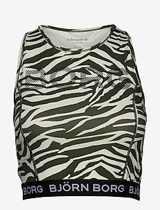 CROPPED TANK CHINA CHINA - BB ZEBRA JET STREAM
