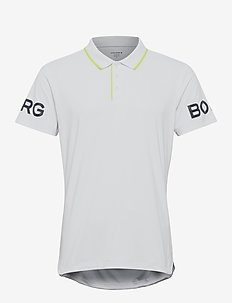 BORG TENNIS POLO - kortærmede - brilliant white