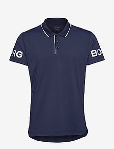 BORG TENNIS POLO - pikeer - peacoat
