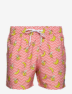 SYLVESTER SYLVESTER LOOSE SHORTS - BB BANANA STRIPE SUGAR CORAL