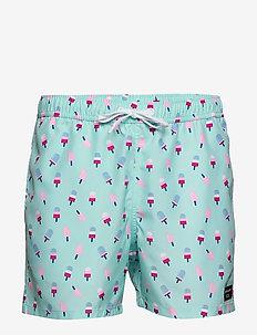 SYLVESTER SYLVESTER LOOSE SHORTS - swim shorts - bb gelato iced aqua
