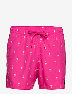 SANTIAGO SANTIAGO SWIM SHORTS - BB PALM TREE PINK GLOW