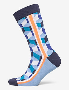 SOCK ANKLE BB CUBE LINE - PLACID BLUE