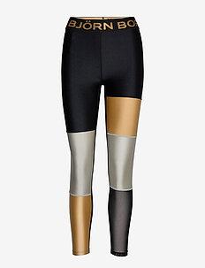 BLOCKED TIGHTS CENDALL CENDALL - running & training tights - black gold