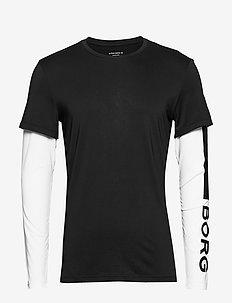 LS TEE ABER ABER - bluzki z długim rękawem - black beauty