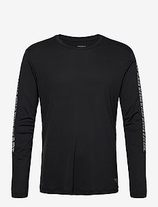 LS PERF TEE M NIGHT NIGHT - langermede topper - black beauty