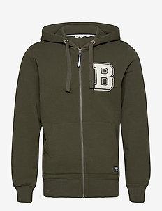 ZIP HOOD CENTRE CENTRE - basic sweatshirts - rosin