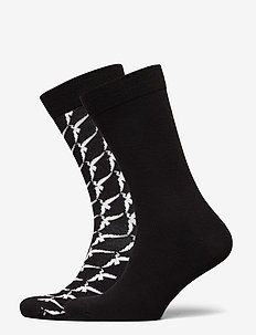 SOCK ANKLE BB WINGSPAN - tavalliset sukat - black beauty