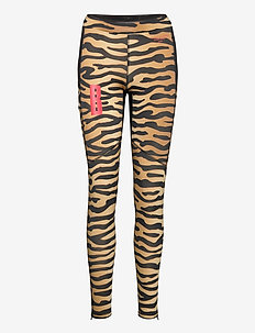 TIGHTS W NIGHT PRINT NIGHT - running & training tights - bb tiger