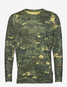 LS TEE BORG BORG - basic t-shirts - digital woodland xl duck green