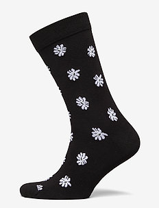 SOCK ANKLE BB SIMPLE FLOWER - tavalliset sukat - black beauty