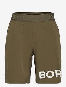 SHORTS BORG BORG - training korte broek - ivy green