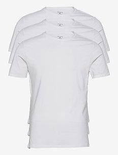 TEE THOMAS SOLID - basic t-shirts - brilliant white