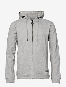 HOODIE BBCENTRE BBCENTRE - H108BY LIGHT GREY MELANGE