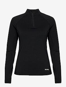 HALF ZIP CARIN CARIN - bluzy i swetry - black beauty