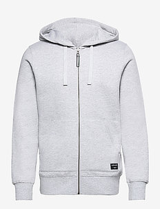 ZIP HOOD CENTRE CENTRE - vindjakker - h108by light grey melange