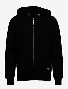ZIP HOOD CENTRE CENTRE - vindjakker - black beauty