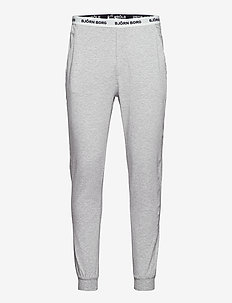 CUFFED PANT CLIFF SOLID - bottoms - grey melange h120ab