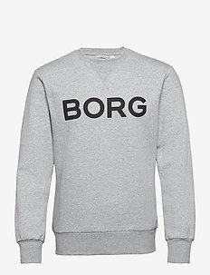 CREW M BB LOGO M BB LOGO - basic sweatshirts - h108by light grey melange