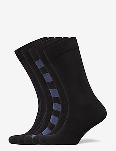 SOCK ANKLE BB BLOCK STRIPE & BB - regular socks - black beauty