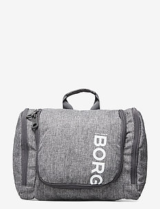 CORE TOILET CASE L - toiletry bags - grey melange