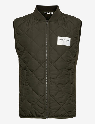 STHLM PADDED VEST - jakker og frakker - deep forest green