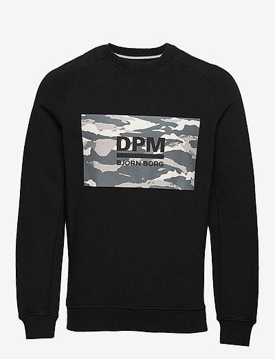 DPM SPORT CREW - overdele - black beauty