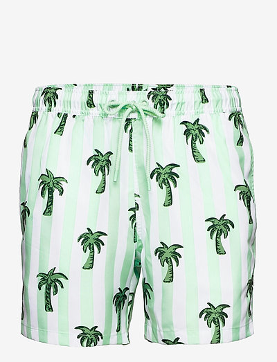 LOOSE SHORTS SYLVESTER SYLVESTER - shorts de bain - bb palmstripe blue tint