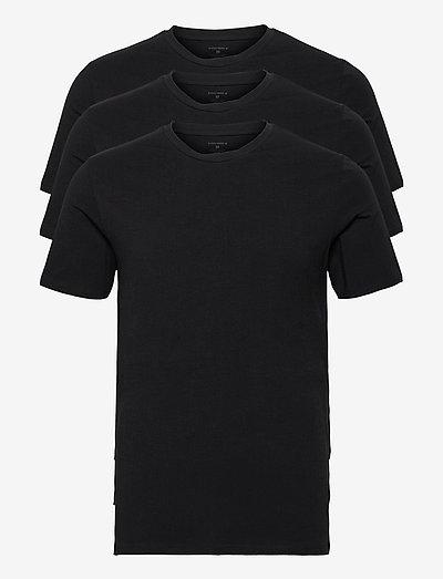 TEE THOMAS SOLID - basic t-shirts - black beauty