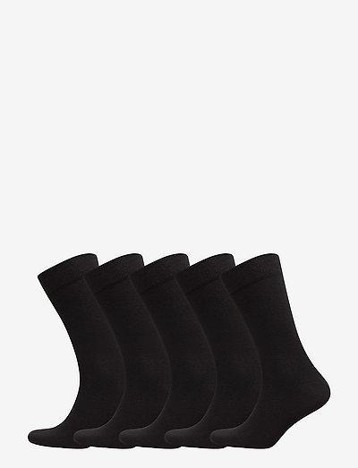 5p SOCK NOOS ESSENTIAL - skarpety crew - black