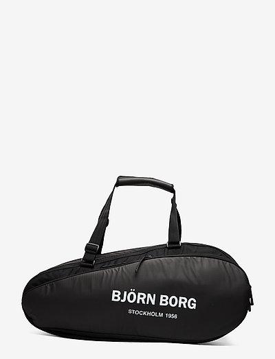BJÖRN TENNIS BAG - ketsjersporttasker - black