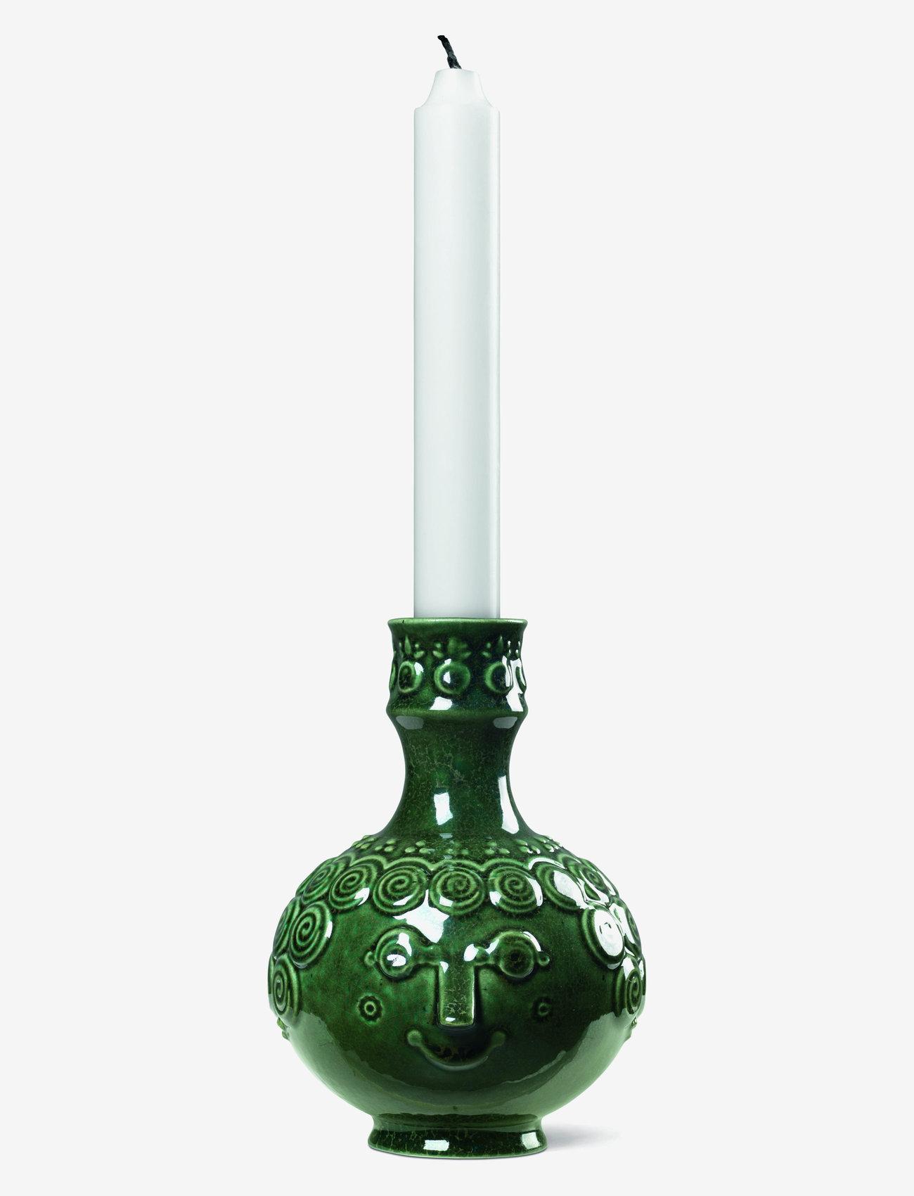 Bjørn Wiinblad - Symphony Ophelia Candle holder H14,5 - dark green - 1