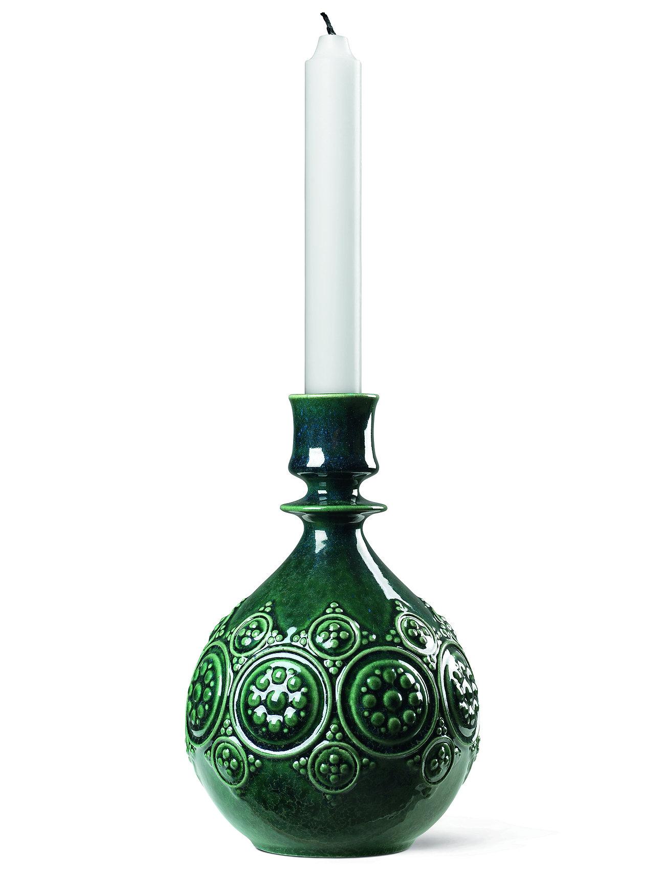 Bjørn Wiinblad - Symphony Magic Candle holder H18 - kynttilänjalat & kynttilälyhdyt - dark green - 1
