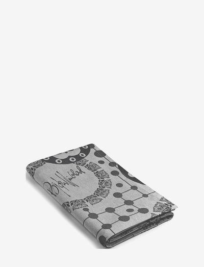 Circles Damask tablecloth 150x350 cm - kankaiset lautasliinat - grey