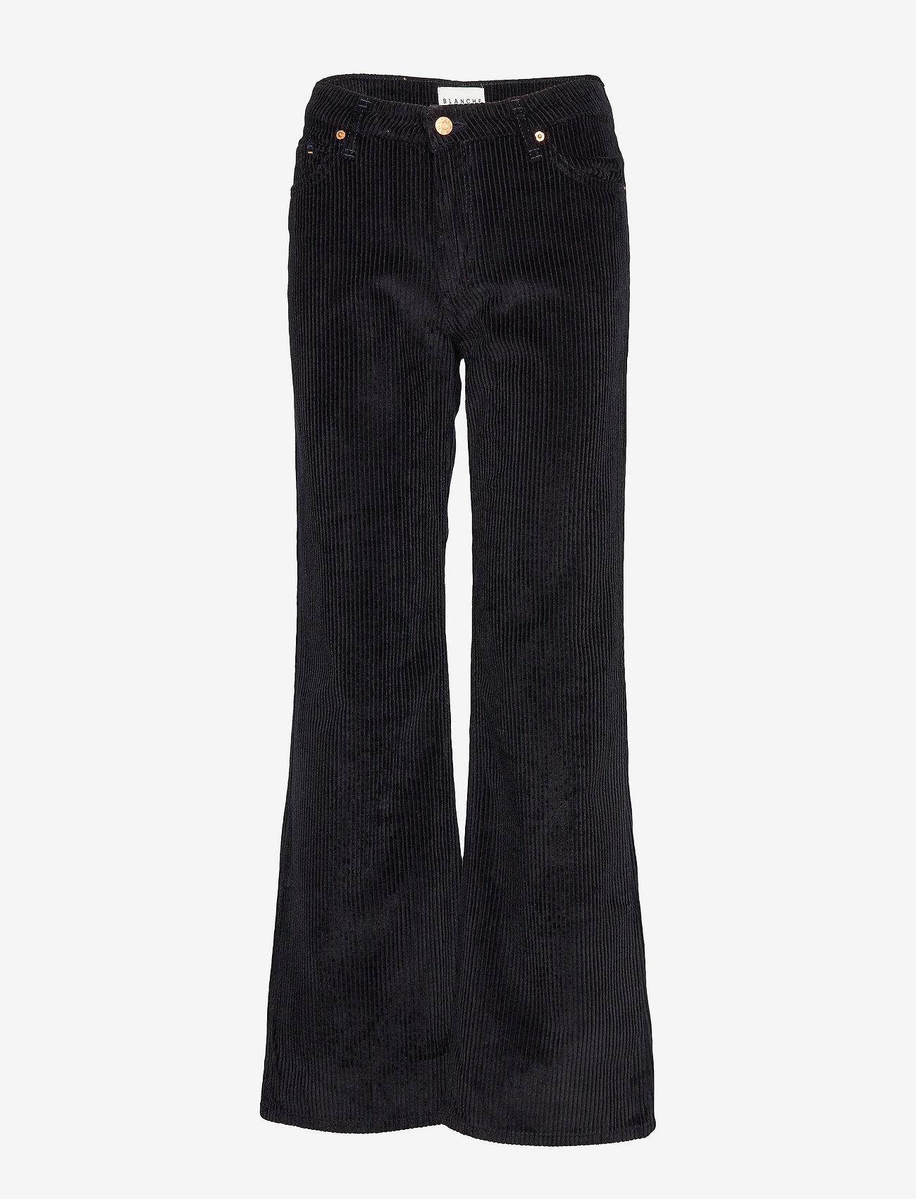 Blanche - Apollo Cord - bukser med brede ben - navy - 0