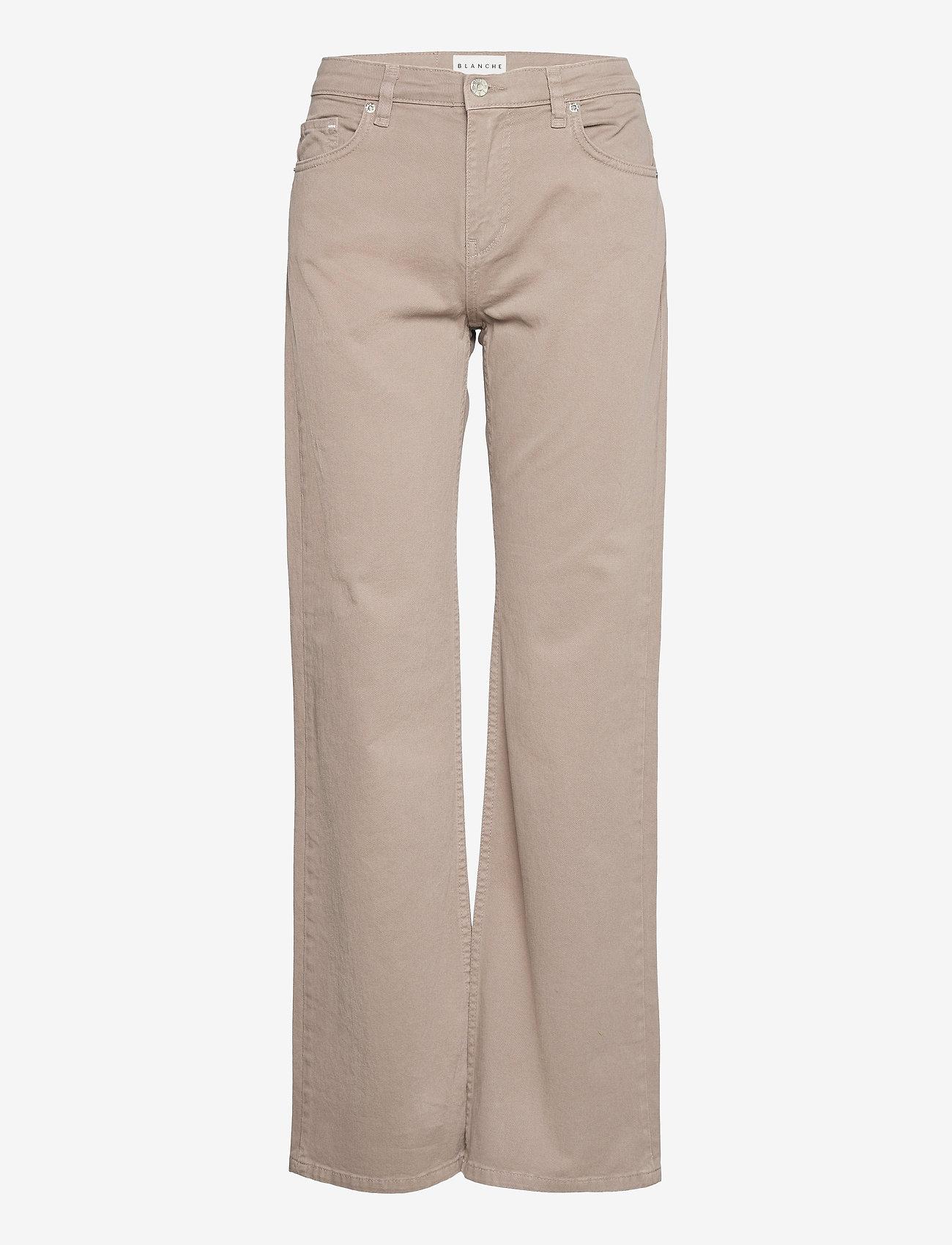 Blanche - Apollo - bukser med brede ben - cinder - 0