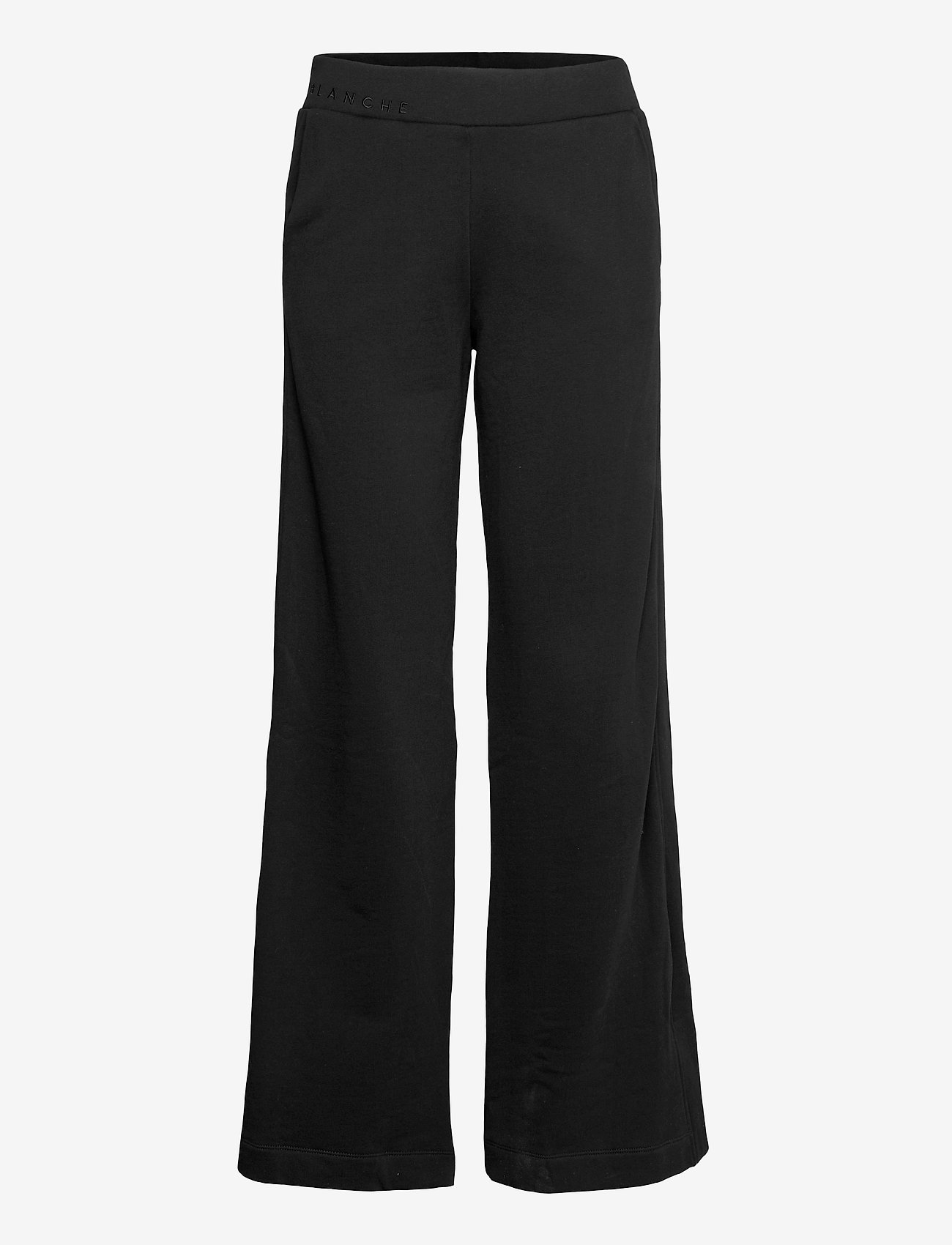 Blanche - Hella Slit Pants - bukser med brede ben - black - 1