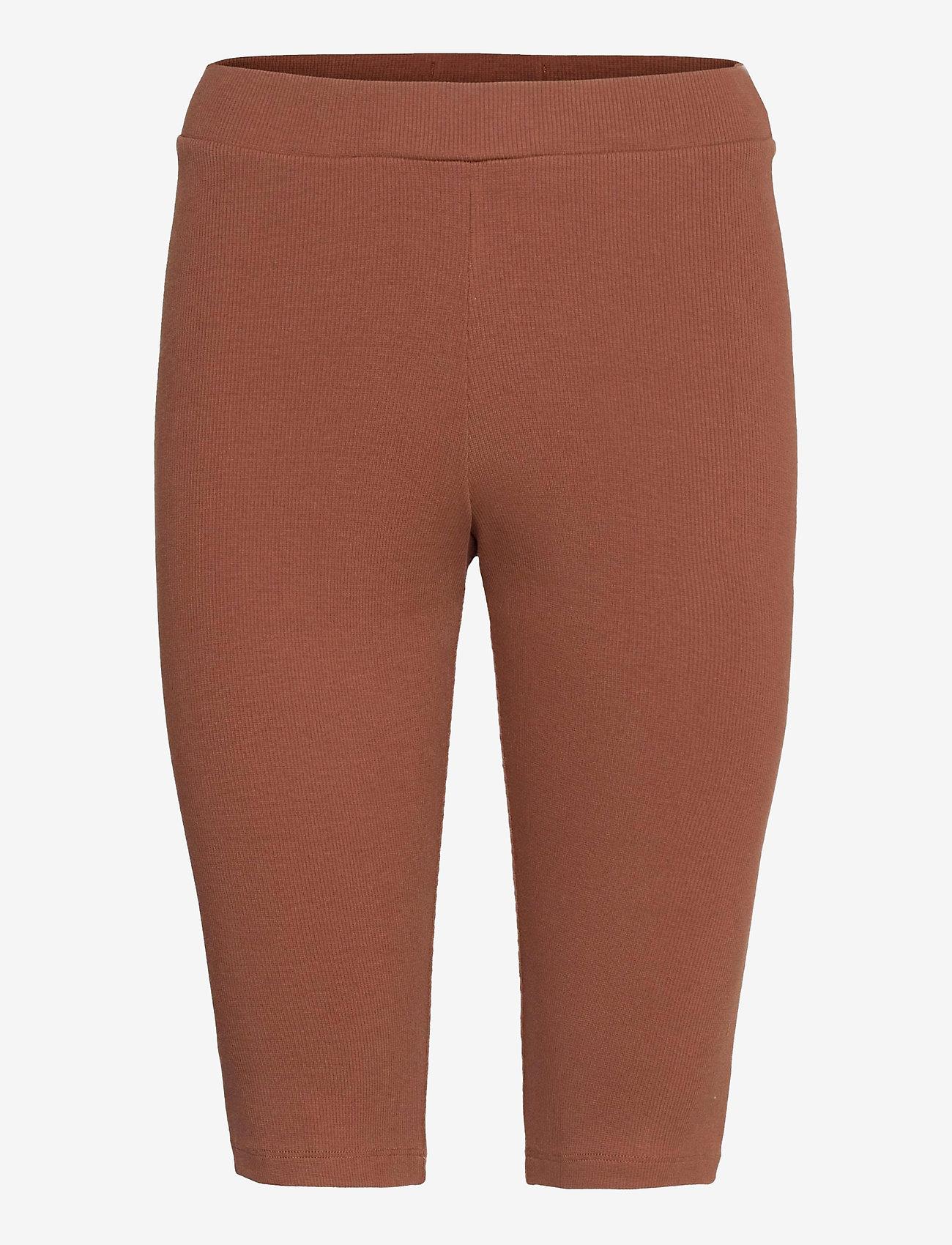 Blanche - Rosa Rib Shorts - cykelshorts - soil - 0