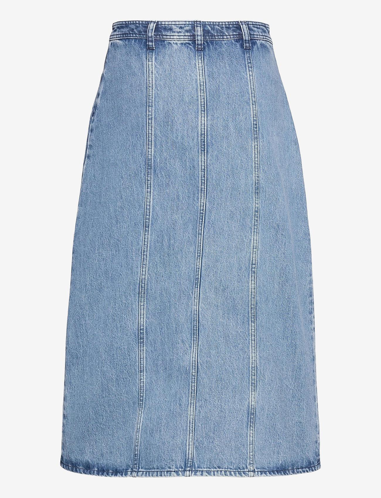 Blanche - Adrian Skirt - midi nederdele - sun faded blue - 1