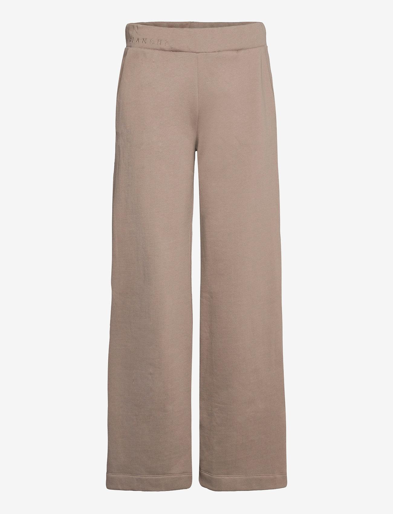 Blanche - BLANCHE x BOOZT Hella Slit Pants - bukser med brede ben - cinder - 0