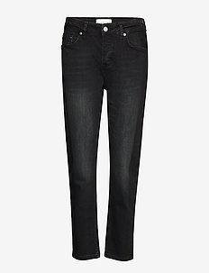 Belle Black - straight jeans - un black demin
