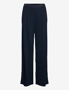 Carisi Pants - wide leg trousers - navy
