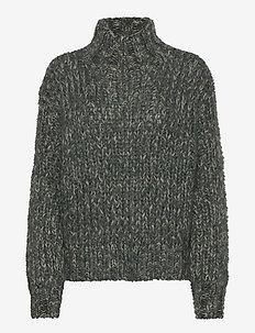 Kuma Jumper - rullekraver - flint grey