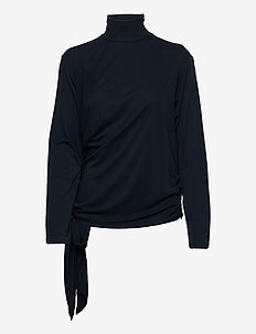 Carisi blouse - long sleeved blouses - navy
