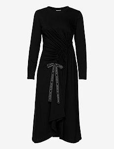 Main Draw Dress LS - maxikjoler - black