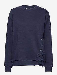 Mila blouse - sweatshirts - navy