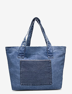 Tote denim - casual shoppers - vintage blue
