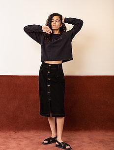 Able Skirt - jeansowe spódnice - caviar